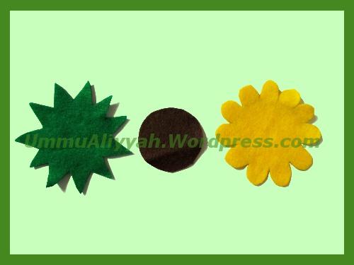 Tumpuk pola berwarna hijau dan kuning, lalu rekatkan dengan lem (kalo ...